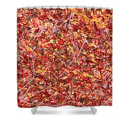 Abstract - Nail Polish - Cosmetically Speaking Shower Curtain by Mike Savad