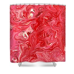 Abstract - Nail Polish - My Ice Cream Melted Shower Curtain by Mike Savad