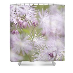 Abstract Nature Pink Burst Shower Curtain by Circe Lucas