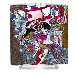 Abstract New Vo Shower Curtain