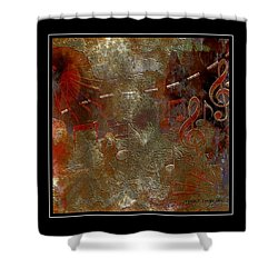 Abstract Notes Shower Curtain