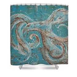 Abstract Octopus Shower Curtain