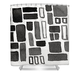Abstract Open Windows Shower Curtain by Linda Woods