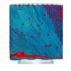 Abstract Original Artwork One Hundred Phoenixes Untitled Number Eleven Shower Curtain