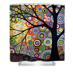 Abstract Original Modern Tree Landscape Visons Of Night By Amy Giacomelli Shower Curtain