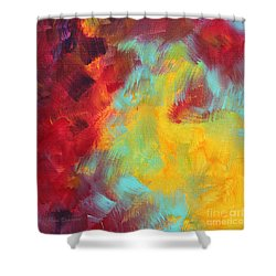 Abstract Original Painting Colorful Vivid Art Colors Of Glory I By Megan Duncanson Shower Curtain by Megan Duncanson