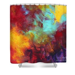 Abstract Original Painting Colorful Vivid Art Colors Of Glory II By Megan Duncanson Shower Curtain by Megan Duncanson