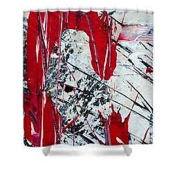 Abstract Original Painting Untitled Nine Shower Curtain
