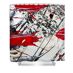 Abstract Original Painting Untitled Ten Shower Curtain