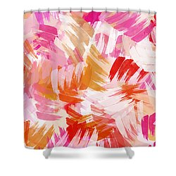 Abstract Paint Pattern Shower Curtain