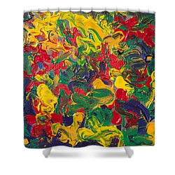 Abstract Painting - Color Explosion Shower Curtain