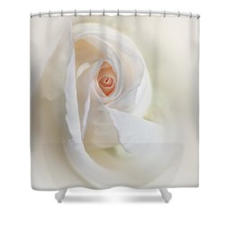 Abstract Pastel Rose Flower Shower Curtain by Jennie Marie Schell