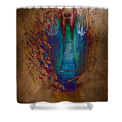 Abstract Path Shower Curtain by Loriental Photography