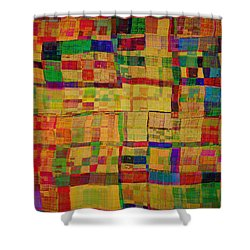 Abstract Pattern 2 Shower Curtain by Klara Acel