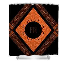 Printed Brown Shower Curtain