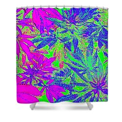 Abstract Pink N Blue Shower Curtain