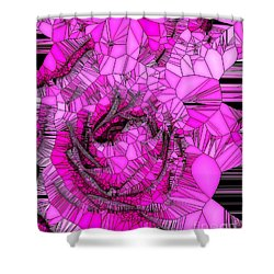 Abstract Pink Rose Mosaic Shower Curtain