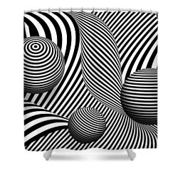 Abstract - Poke Out My Eyes Shower Curtain by Mike Savad