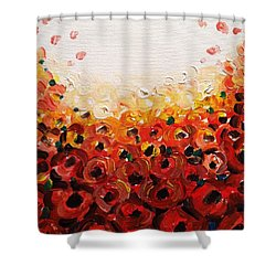 Abstract Poppies 2 Shower Curtain