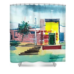 Abstract Reality Mix 1 Shower Curtain by Anil Nene