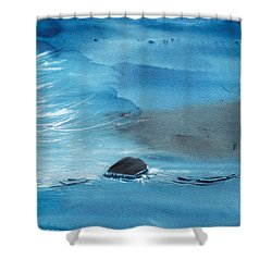 Abstract Reality Mix 2 Shower Curtain by Anil Nene