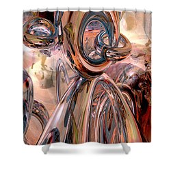 Abstract Reflecting Rings Shower Curtain