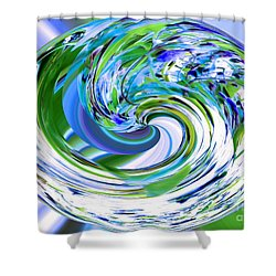 Abstract Reflections Digital Art #3 Shower Curtain