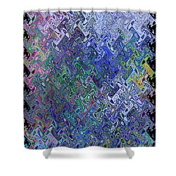 Abstract Reflections Shower Curtain by Robyn King