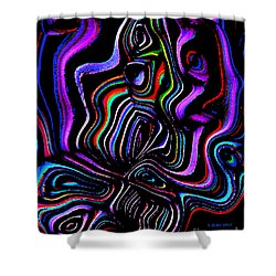 Shower Curtain featuring the digital art Abstract  Rhythm A Contemporary Modern Digital Art by Annie Zeno