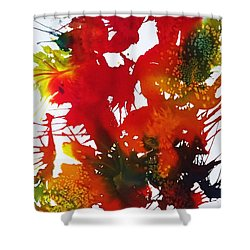 Abstract - Riot Of Fall Color II - Autumn Shower Curtain by Ellen Levinson