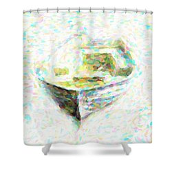 Abstract Rowboat Shower Curtain