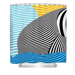 Abstract - Sailing Shower Curtain by Mike Savad