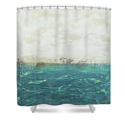 Abstract Seascape 02/14a Shower Curtain by Filippo B