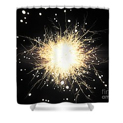 Abstract Sparkle Shower Curtain by Pixel Chimp