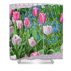 Abstract Spring Floral Fine Art Prints Shower Curtain
