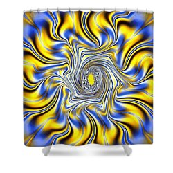 Abstract Spun Flower Shower Curtain