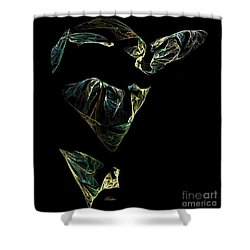 Abstract Stranger Shower Curtain by Sara  Raber