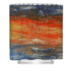 Abstract Sunset  Shower Curtain by Jane See