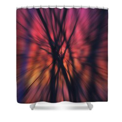 Abstract Sunset Shower Curtain