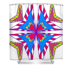 Abstract Symmetry Shower Curtain
