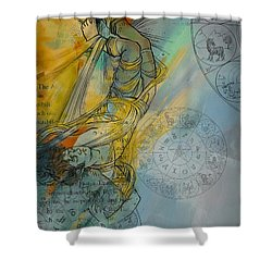 Abstract Tarot Art 015 Shower Curtain by Corporate Art Task Force