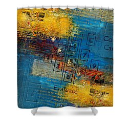 Abstract Tarot Art 016 Shower Curtain by Corporate Art Task Force