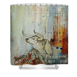 Abstract Tarot Art 017 Shower Curtain by Corporate Art Task Force