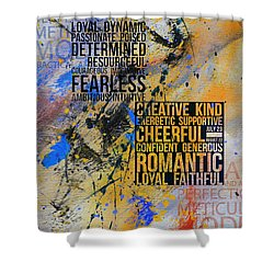 Abstract Tarot Art 018 Shower Curtain by Corporate Art Task Force