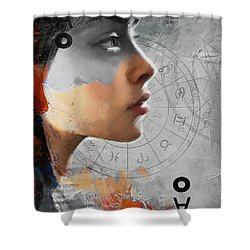 Abstract Tarot Art 019b Shower Curtain by Corporate Art Task Force
