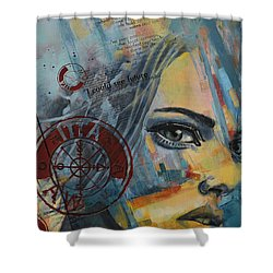 Abstract Tarot Art 022a Shower Curtain by Corporate Art Task Force