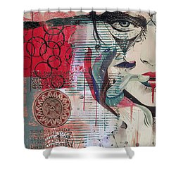 Abstract Tarot Card 008 Shower Curtain by Corporate Art Task Force