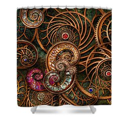 Abstract - The Wonders Of Sea Shower Curtain by Mike Savad