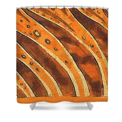 Abstract Tiger Stripes Shower Curtain by Pixel Chimp