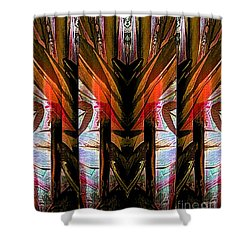 Abstract Tiki Shower Curtain
